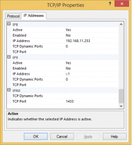 TCP/IP - IP Addresses Properties